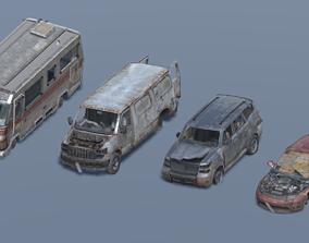 3D asset Destroyed Car Pack