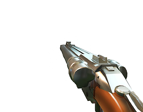 Doomguy shotgun 3D model game-ready