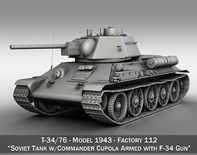T-34-76 - Model 1943 - Factory 112 - Soviet Medium 3D