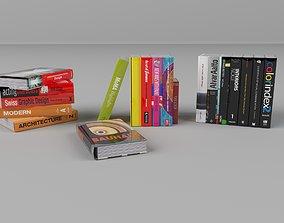 books 3D asset game-ready