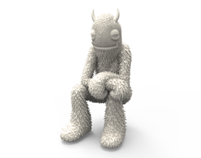 Fur man 3D printable model