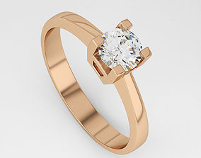 3D print model Gold Ring with Diamond