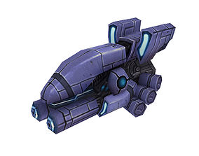 3D Machinery - Floating Cannon 01