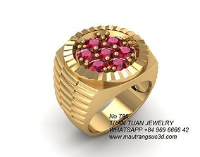 796 Rolex Watch Style Men Ring 3D printable model