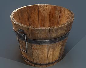 Bucket Wooden 3D model