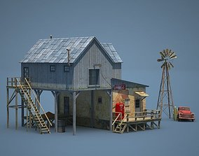 3D asset Old Farm and Shop Game Ready