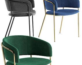 3D model furniture La Forma stool Konnie
