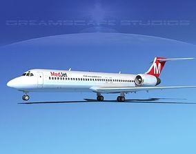 3D model Boeing 717-200 Med Jet