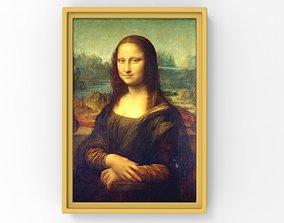 Mona Lisa painting by Leonardo da Vinci for 3D printing