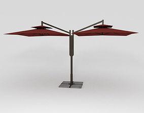 Double Patio Umbrella 3D model