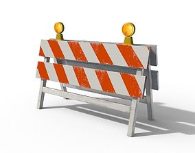 3D asset Construction Barrier 02
