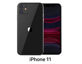 3D model Apple iPhone 11 Black computer-equipment