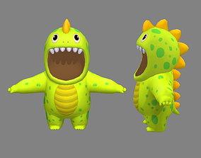 Cartoon dinosaur costume 3D model