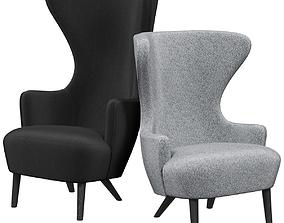 3D Tomdixon Wingback armchair