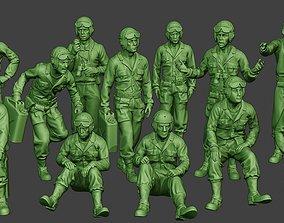 3D American Tank Crew ww2 ATC1 Pack1
