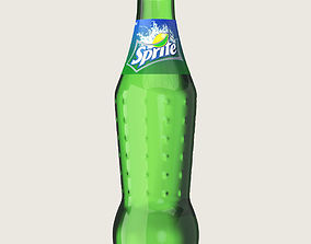 Sprite Drink Glass Bottle 3D asset