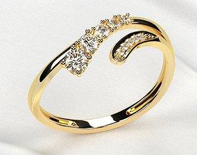 Fashion Gold Ring 3D printable model diamond-ring