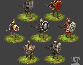 Lowpoly Hellenistic Hoplites 3D model