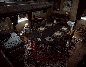 3D model HQ Messy Dining Room PBR