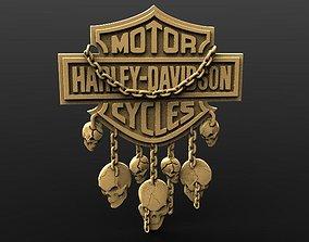 Harley Davidson skulls 3D printable model