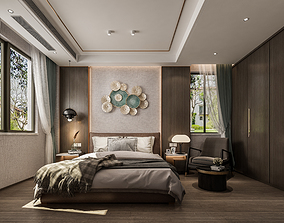 bedroom 3D model animated