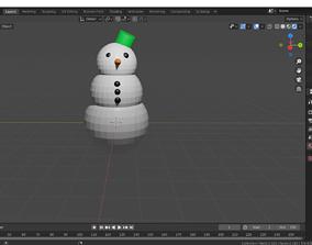 Simple Snowman celebration 3D model
