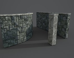 3D model Stone fence Modular