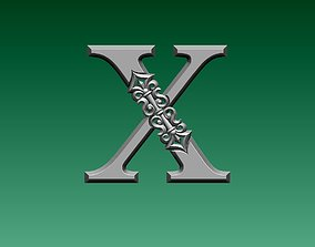 3D print model letter X