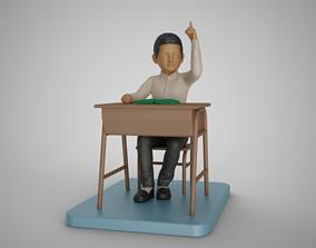 3D printable model Boy Lift Finger Up