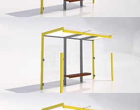 MMCite Geomere Bus Shelter Collection 3D