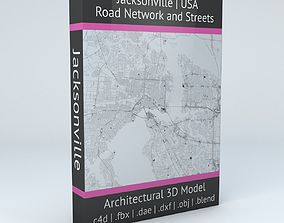 Jacksonville Road Network and Streets 3D