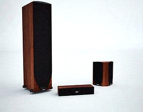 Speakers pack 1 3D asset