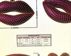 3D printable model Lips Pendant