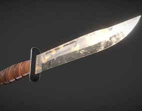 Ka-bar combat knife 3D asset realtime