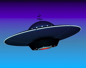 3D Cartoon Spaceship