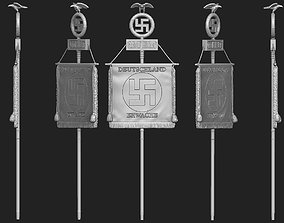 old 3D printable model Nazi Banner