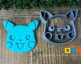 Pokemon Pikachu head cookie cutter 3D print model