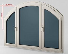 3D model Plastic casement window 07