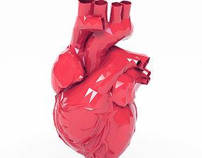 Low Poly Heart 3D asset