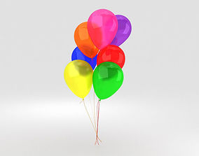 Balloons present 3D model