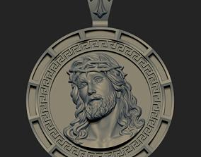 Jesus Head pendant 4 3D print model