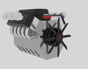 Cartoon Engine Hemi 3D model