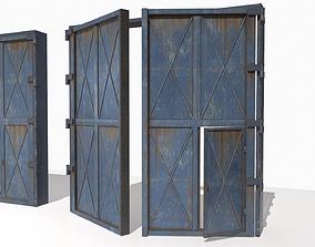 3D model Industrial metal gate 4