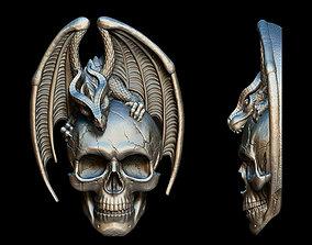 Dragon Skull Relief 3D printable model