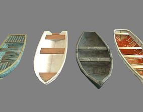 3D model Set of boats