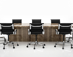 3D model Conference Meeting Room Furniture 02