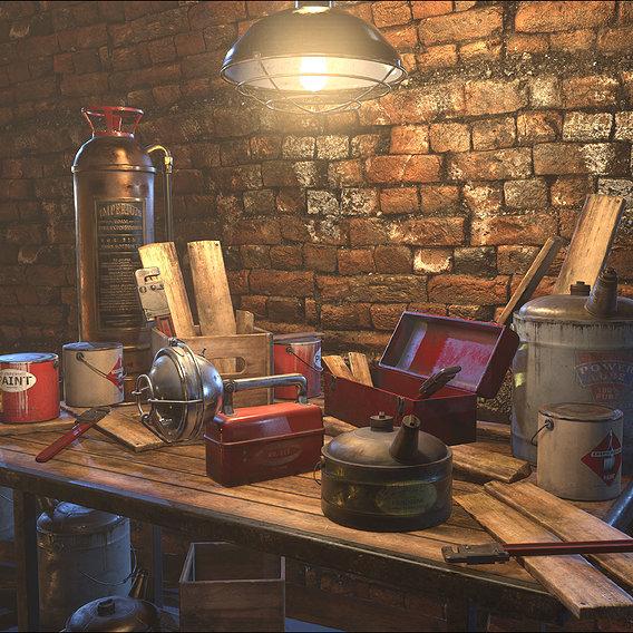 Vintage Industrial Still Life