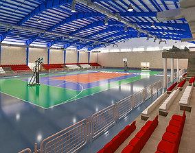 3D model Realistic Sport Hall Complex complex