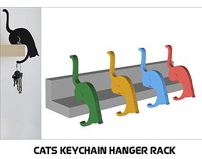 CATS KEYCHAIN HANGER RACK keys 3D print model