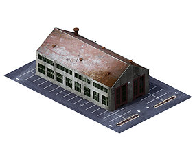 3D model Future World - Industrial Zone 01
